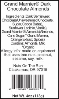 Grand Marnier® Dark Chocolate Almonds