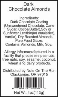 Coconut Dark Chocolate Almonds