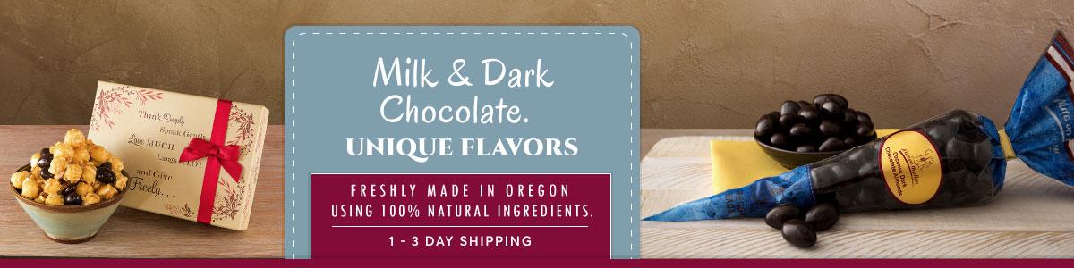 Dark and Milk Chocolate - 100% natural and non-GMO