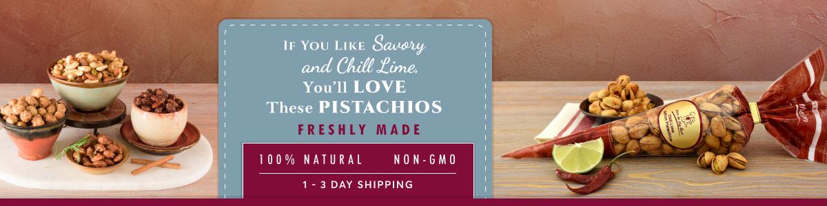 Flavored Pistachios - 100% natural - non-GMO