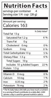 Sea Salt Caramel Pecans Nutritional Facts