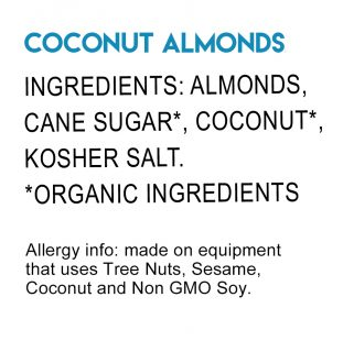Coconut Almonds Ingredients